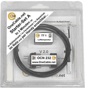 OneCable.net Starter-Set A-X10 Temperatur-Alarm